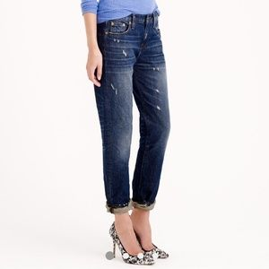 J CREW  Broken In Boyfriend Jeans